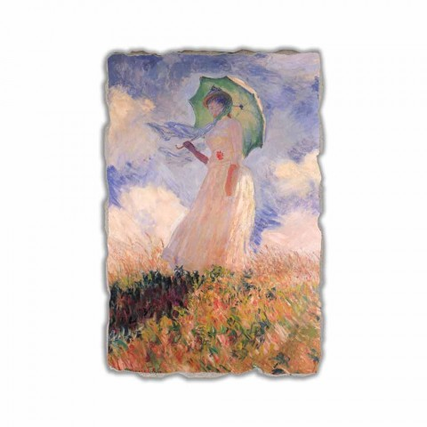"""Fresco Calude Monet """"Vrouw met een parasol naar links gedraaid"""""""