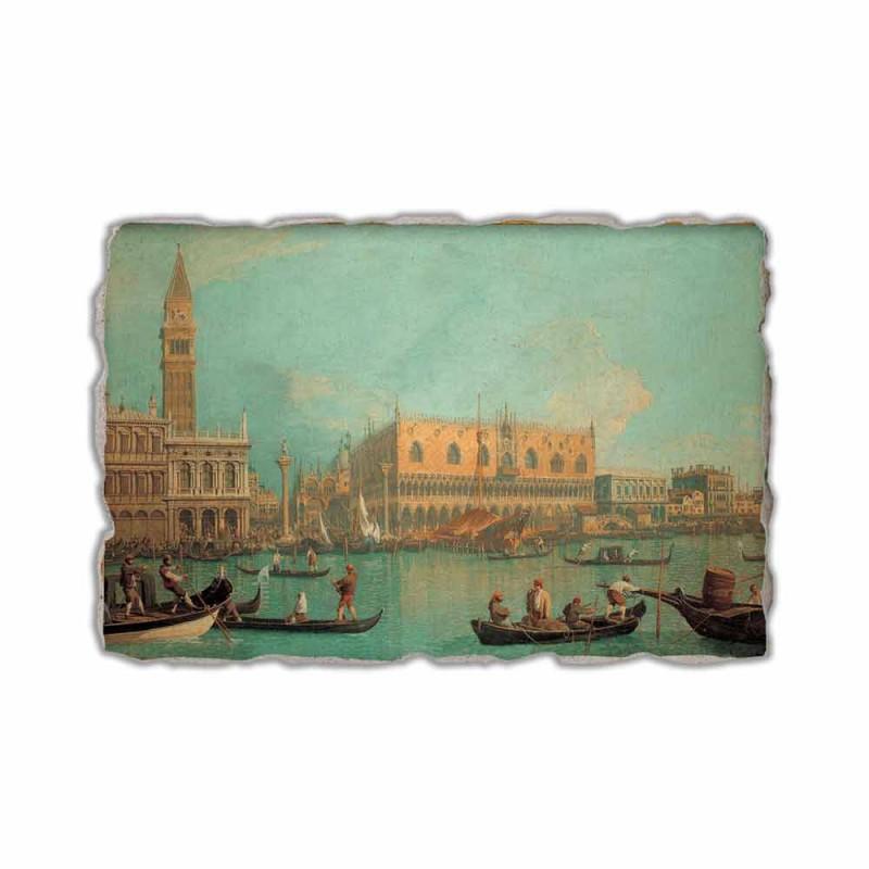 "Fresco Canaletto ""Mening van Palazzo Ducale di Venezia"""
