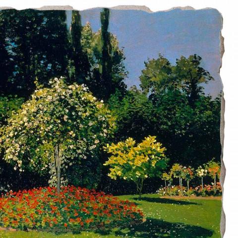 "Fresco Claude Monet ""Lady in Garden at Sainte-Adresse"""