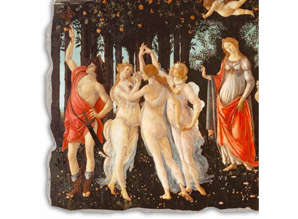 """Fresco handgemaakte Botticelli's """"Allegorie van de Lente"""""""