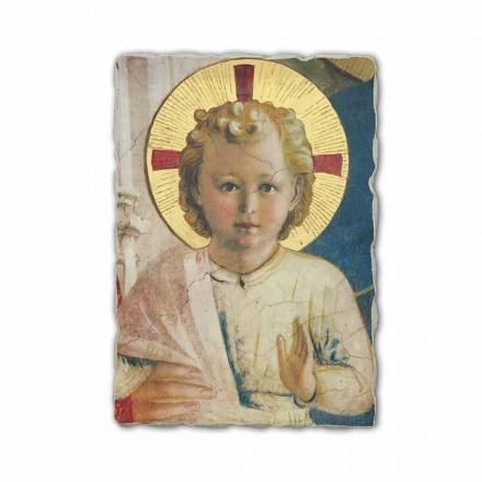 "Fresco handgemaakt in Italië Beato Angelico ""Madonna Shadows"""
