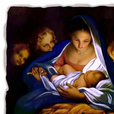 "Fresco handgemaakte Italiaanse Carlo Maratta ""Geboorte van Christus"" in 1650"