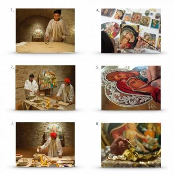 "Fresco handgemaakte Italiaanse Filippo Lippi ""Geboorte van Christus"""