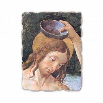 """Fresco handgemaakte Perugino """"De doop van Christus"""""""