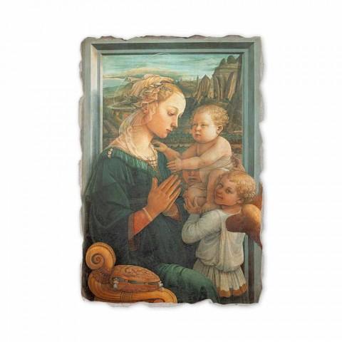 """Fresco gedaan in het Italiaans Filippo Lippi """"Madonna en Kind"""""""