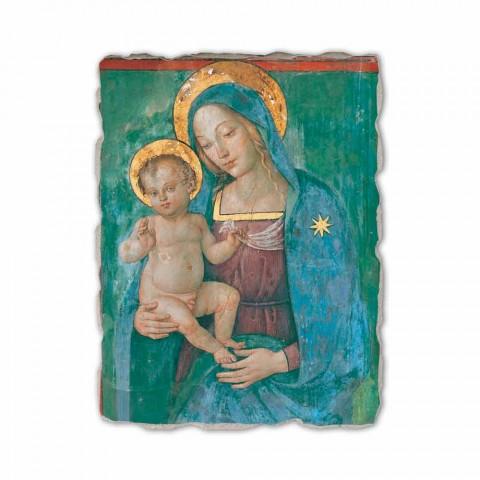 "Fresco gedaan in Italië Pinturicchio ""Madonna en Kind"""