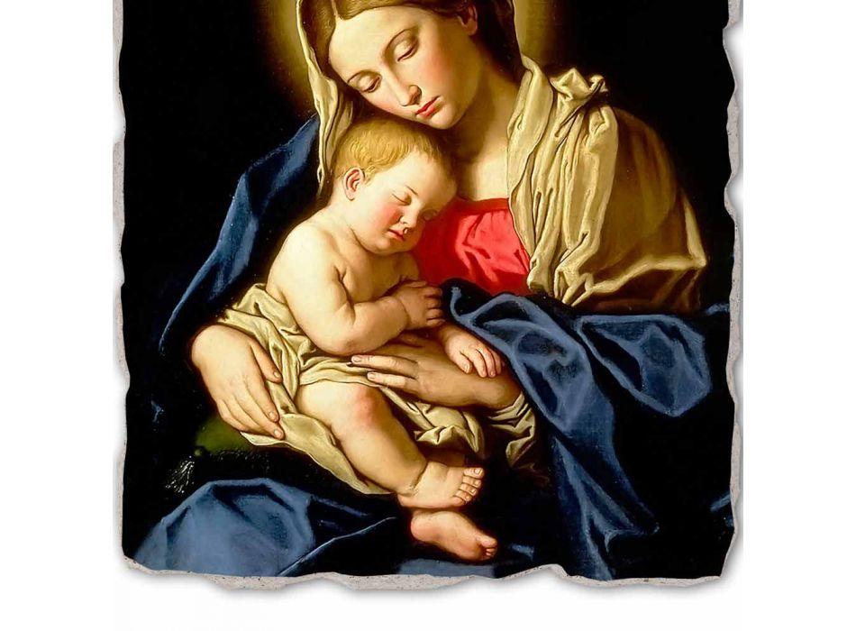 "Fresco gedaan in Italië Sassoferrato ""Madonna en Kind"""