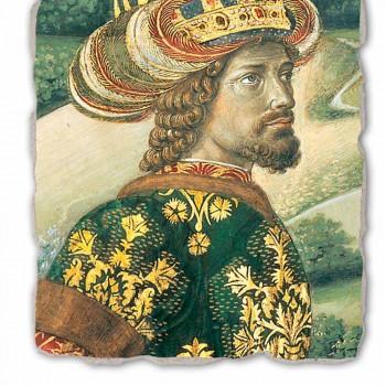 """Gozzoli fresco """"De Optocht van het Magi met koning Melchior"""""""
