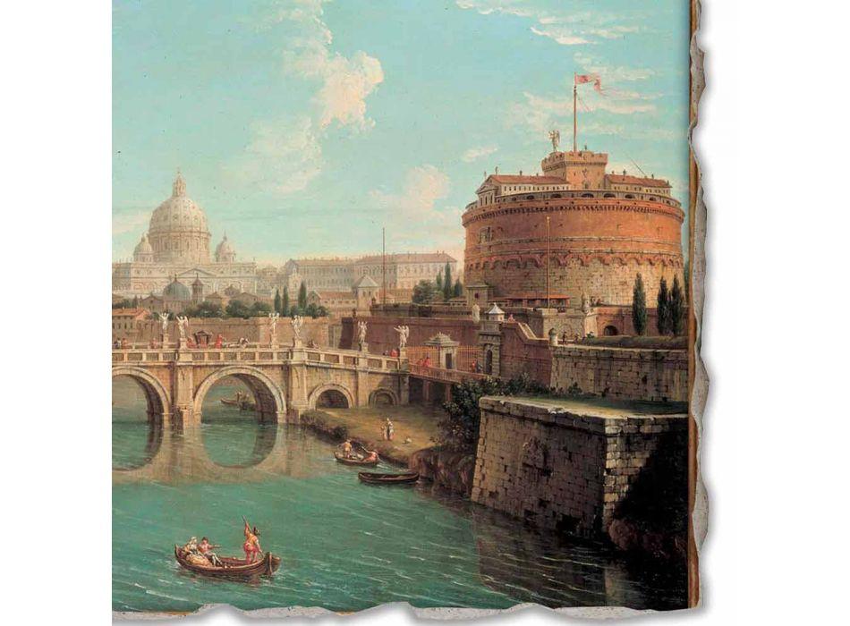 """Grote Fresco Antonio Joli """"Uitzicht van St. Peter"""""""
