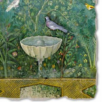 """De grootste Roman Fresco """"Tuin met Hermes en Fontana"""" deel."""