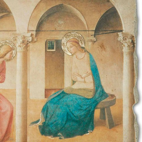 "Grote Fresco Beato Angelico ""Aankondiging"" made in Italy"