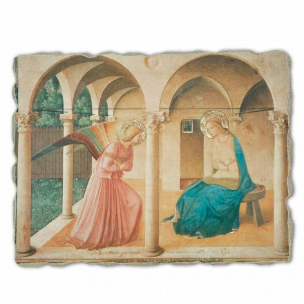 """Grote Fresco Beato Angelico """"Aankondiging"""" made in Italy"""