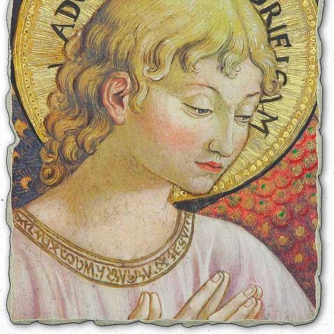 """grote Benozzo Gozzoli fresco """"Koren van Engelen in Adoration"""""""