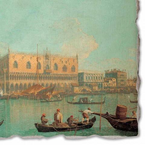 "Fresco grote Canaletto ""Mening van Palazzo Ducale di Venezia"""