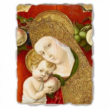 """Grote Fresco Carlo Crivelli """"Madonna Lochis"""" 1475"""
