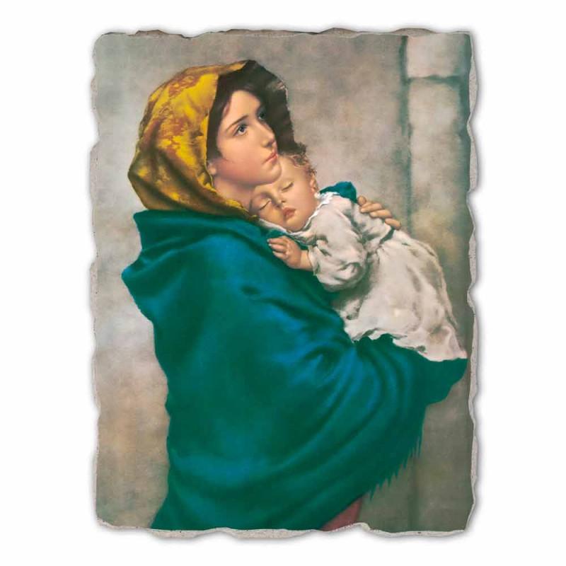 """Grote Fresco handgemaakte Ferruzzi """"Onze Lieve Vrouw van Rust"""""""