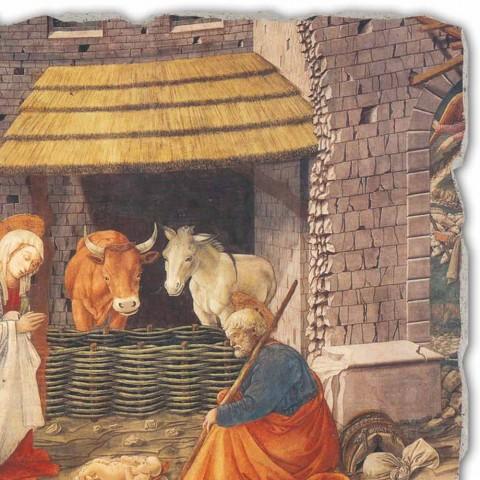 "Fresco grote handgemaakte Italiaanse Filippo Lippi ""Geboorte van Christus"""