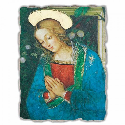 "Grote Fresco handgemaakt in Italië Pinturicchio ""Geboorte van Christus"""