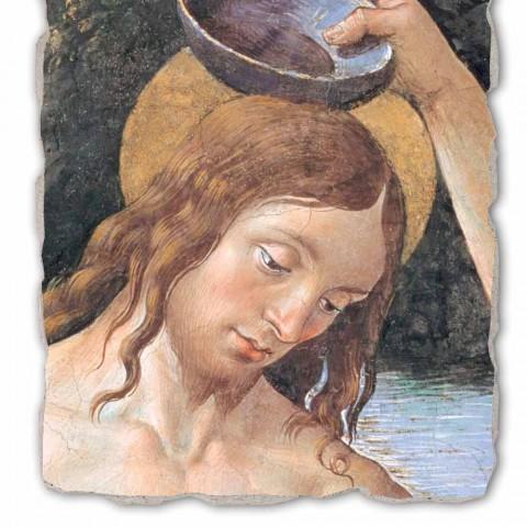 """Grote Fresco handgemaakte Perugino """"De doop van Christus"""""""