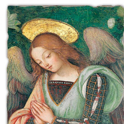 "Grote Fresco Pinturicchio handgemaakte ""Nativity"" deel. Angelo"