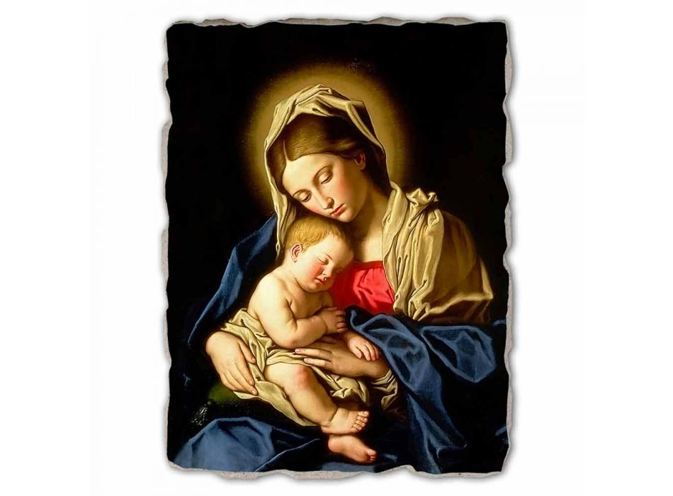 "Grote Fresco handgemaakte Sassoferrato ""Madonna en Kind"""