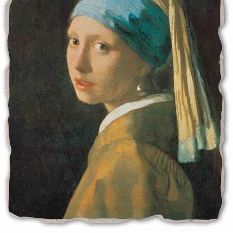 """Grote Fresco handgemaakt van Vermeer """"Meisje met een Tulband"""""""
