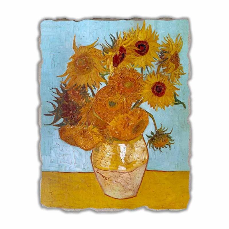 """Grote Fresco handgemaakte Vincent Van Gogh """"Vaas van Zonnebloemen"""""""