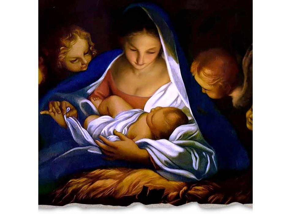 """Grote Fresco gedaan in Italië Carlo Maratta """"Geboorte van Christus"""" in 1650"""