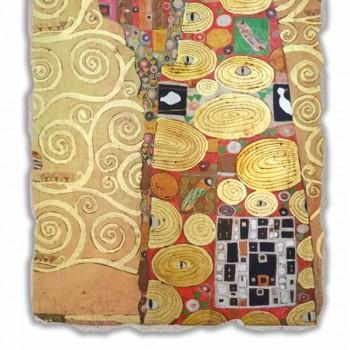"Grote Fresco gedaan in Italië Gustav Klimt ""De omhelzing"""