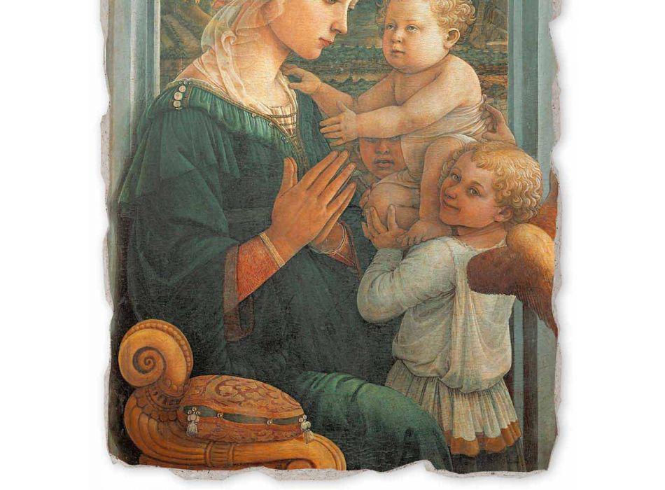 "Grote Fresco Filippo Lippi ""Madonna en Kind"", handgemaakte"