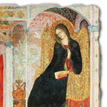 "Grote Fresco Friar Ilario van Viterbo ""Aankondiging"" deel."