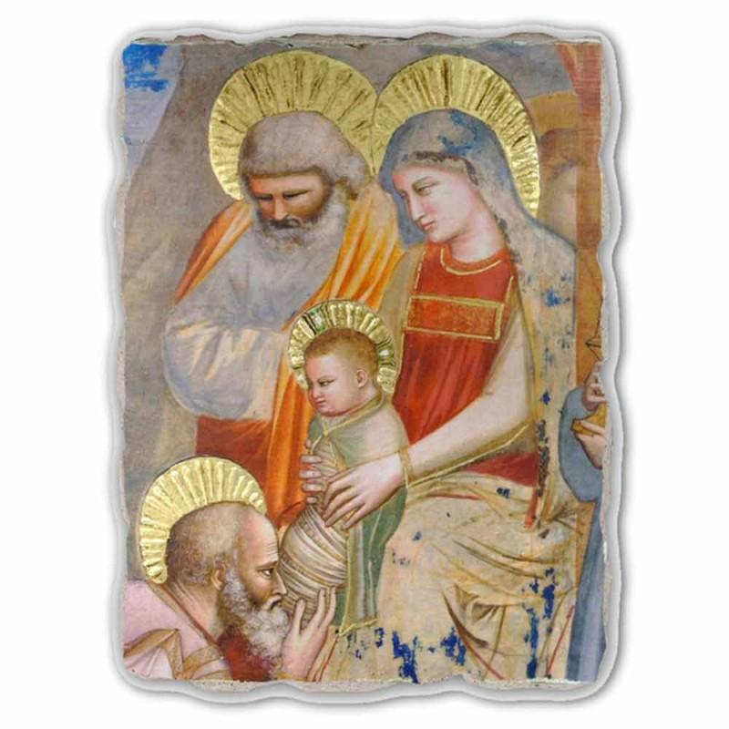"grote Giotto fresco ""Aanbidding der Wijzen"" made in Italy"