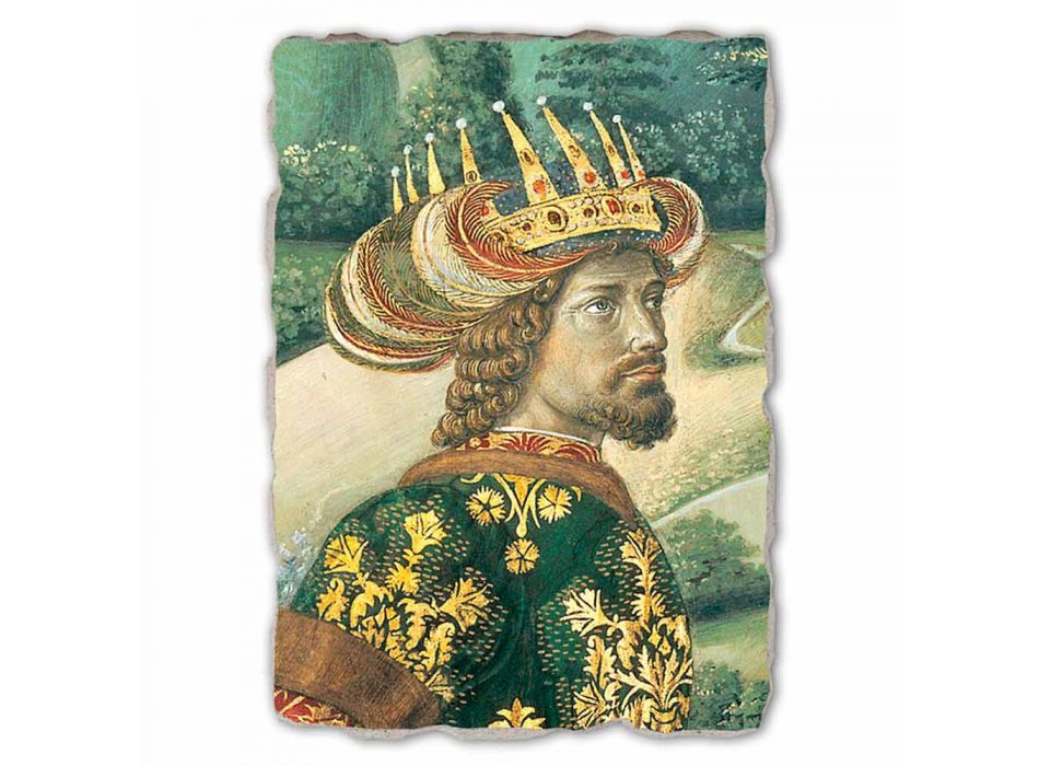 "De grootste Fresco Gozzoli Procession of the Magi met koning Melchior """