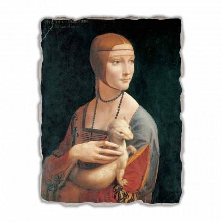 "Fresco grote Leonardo da Vinci ""Dame met de hermelijn"""