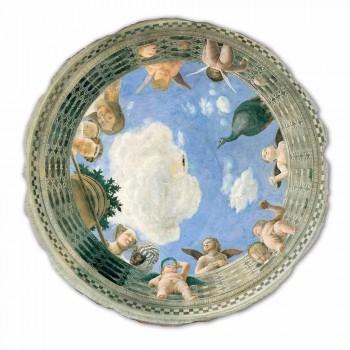 """grote Mantegna Fresco """"Oculus met Cherubs en Dame met uitzicht op"""""""