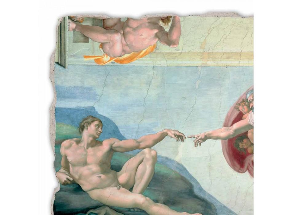 """grote Michelangelo fresco """"De schepping van Adam"""", handgemaakte"""