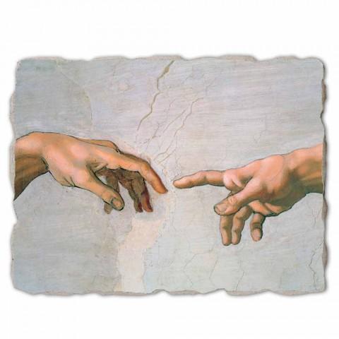 """grote Michelangelo fresco """"De schepping van Adam"""" special"""