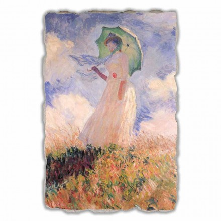 """Great Fresco Monet """"Vrouw met een parasol naar links gedraaid"""""""