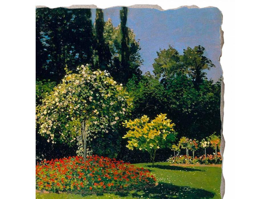 "Great Fresco Monet ""Lady in Garden at Sainte-Adresse"""