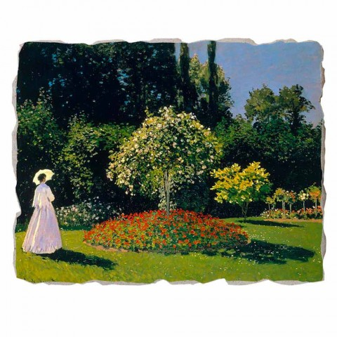 "Great Fresco Monet ""Lady in Garden at Sainte-Adresse"""