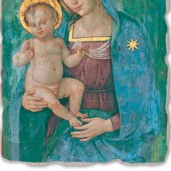 "Great Pinturicchio Fresco ""Madonna met Kind"" Ambachtelijk"