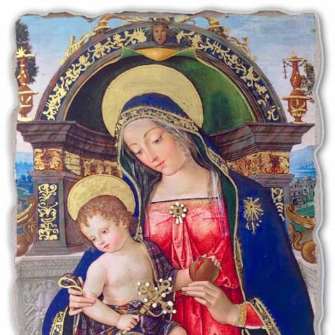 Fresco Pinturicchio grote altaarstuk van Santa Maria dei Fossi