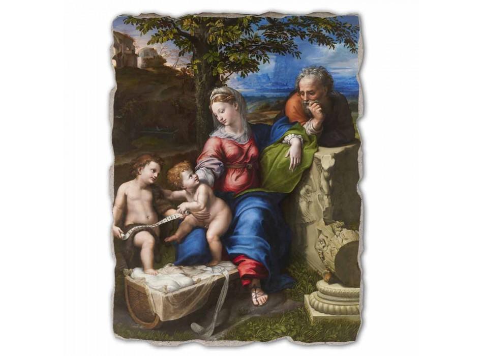 "Grote Fresco R. Sanzio ""Heilige Familie onder de Eiken"""