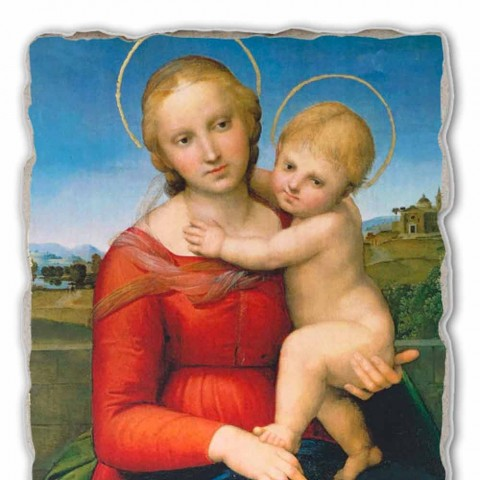"""Fresco grote Raffaello Sanzio """"Kleine Cowper Madonna"""" in 1505"""