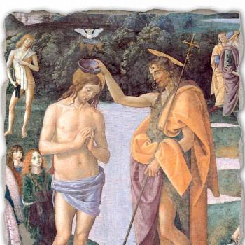 """geweldige combinatie Perugino Fresco """"De doop van Christus"""""""
