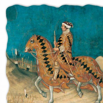 """Fresco grote Simone Martini """"Guidoriccio da Fogliano"""""""