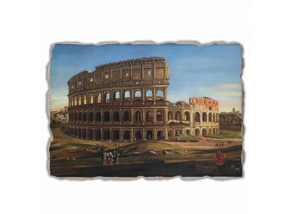 """Great Fresco Vanvitelli """"van het Colosseum en de Boog van Constantine"""""""