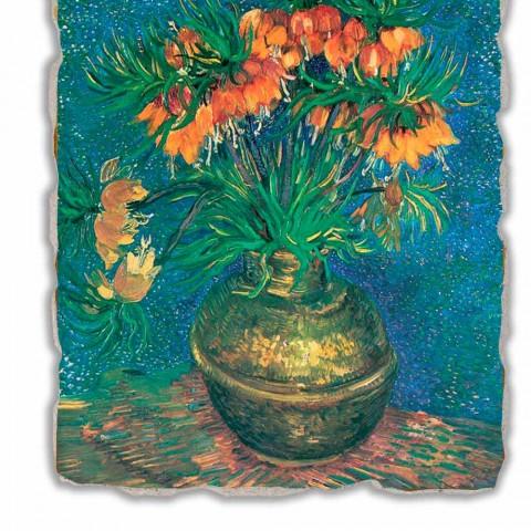 "Grote Fresco Vincent Van Gogh ""Stilleven met Fritillaria"""