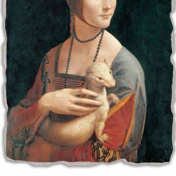 "Fresco Leonardo da Vinci ""Dame met de hermelijn"""