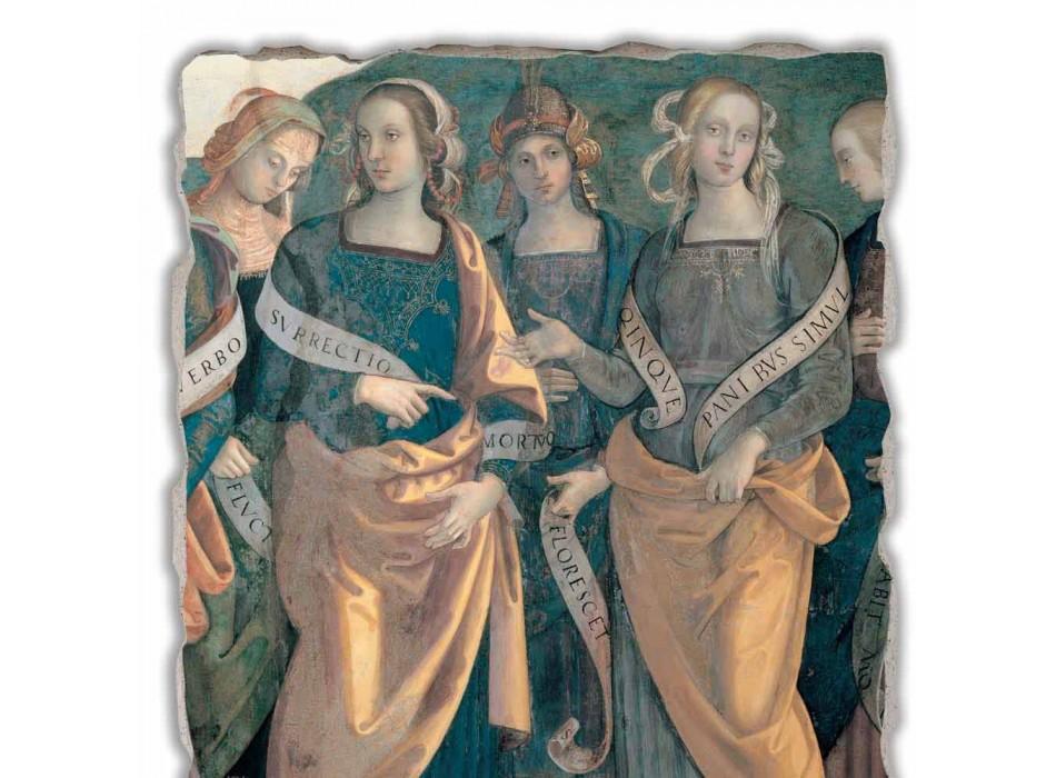 """Fresco Perugino """"Lord of the Angels, Profeten en Sibillen"""" deel."""
